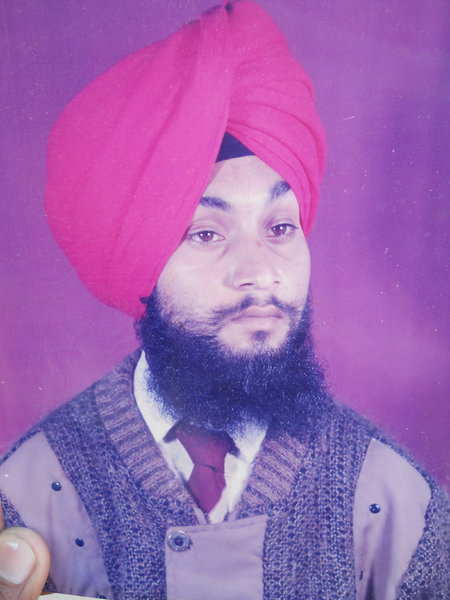 Photo of Jasmail Singh, victim of extrajudicial execution between March 13, 1991 and March 16,  1991, in Zira, by Punjab Police