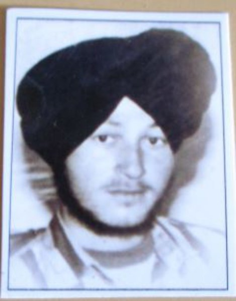 Photo of Kamaljit Singh, victim of extrajudicial execution on July 13, 1989Punjab Police