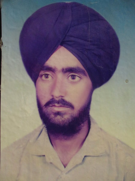 Photo of Harjit Singh, victim of extrajudicial execution on April 13, 1991, in Malout, by Punjab Police