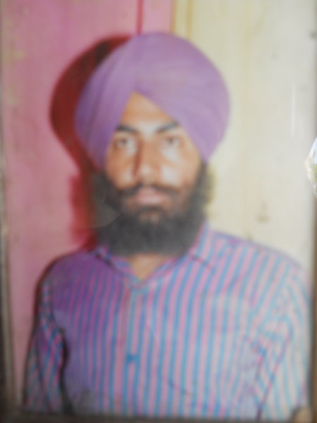 Photo of Ranjit Singh, victim of extrajudicial execution on June 24, 1986, in Batala, by Punjab Police; Central Reserve Police Force