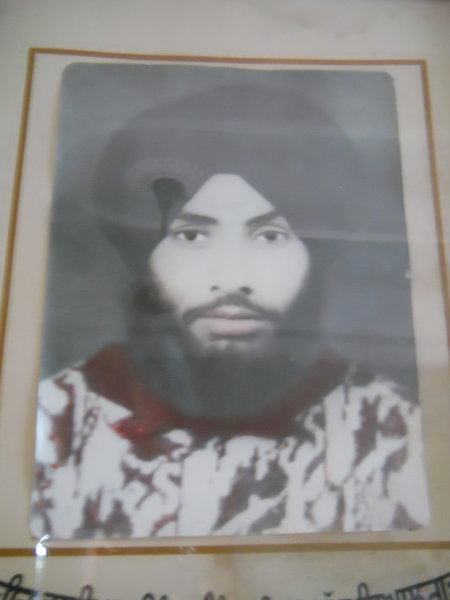 Photo of Sukhwinder Singh, victim of extrajudicial execution on June 06, 1988, in Batala, by Punjab Police