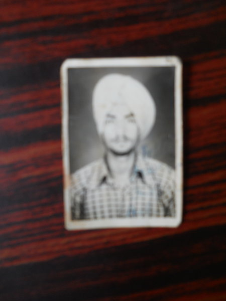 Photo of Satnam Singh, victim of extrajudicial execution between March 1, 1987 and March 31,  1987Punjab Police