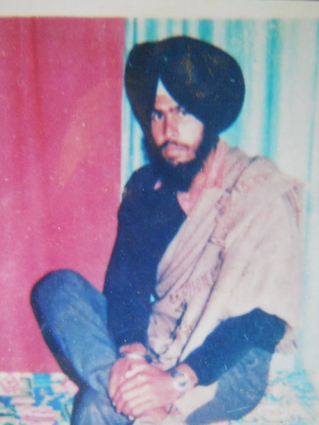 Photo of Nirvair Singh, victim of extrajudicial execution on November 10, 1989, in Batala,  by Punjab Police; Border Security Force, in Batala, by Punjab Police