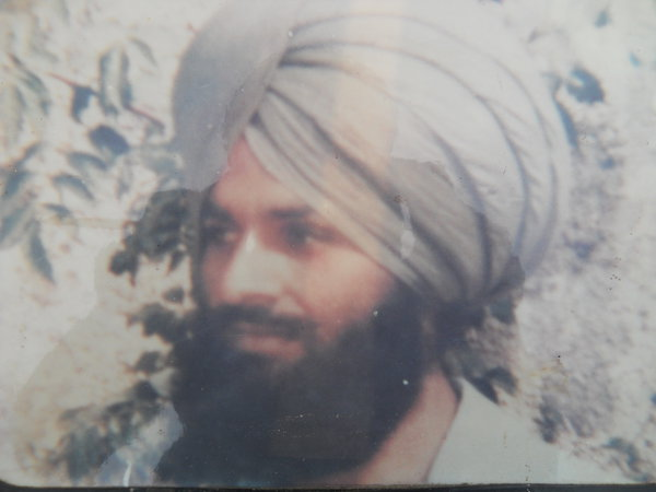 Photo of Gurmeet Singh, victim of extrajudicial execution on May 14, 1993, in Dhariwal, by Punjab Police