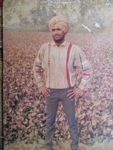 Photo of Ranjit Singh, victim of extrajudicial execution on July 21, 1992, in Dhariwal, by Punjab Police