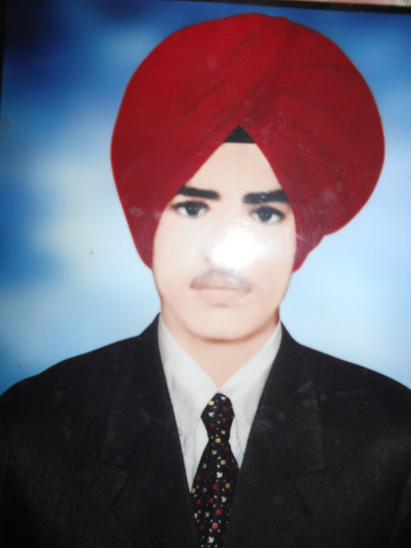 Photo of Gurmeet Singh, victim of extrajudicial execution on March 22, 1993, in Dorangla, by Punjab Police