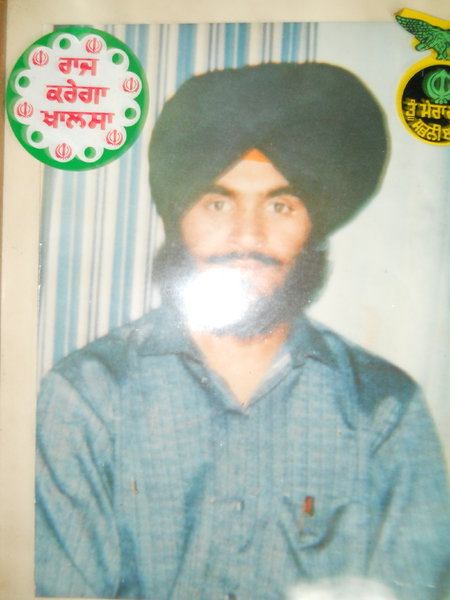 Photo of Ranjit Singh, victim of extrajudicial execution on May 29, 1990, in Tarn Taran, by Punjab Police