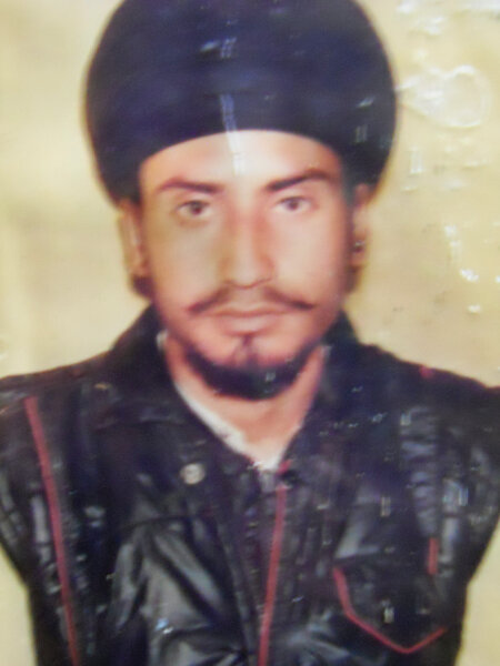 Photo of Kahan Singh, victim of extrajudicial execution on December 18, 1991, in Dhariwal, by Punjab Police