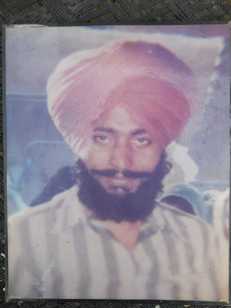 Photo of Dalbir Singh, victim of extrajudicial execution between September 1, 1988 and October 31,  1988, in Batala, by Punjab Police