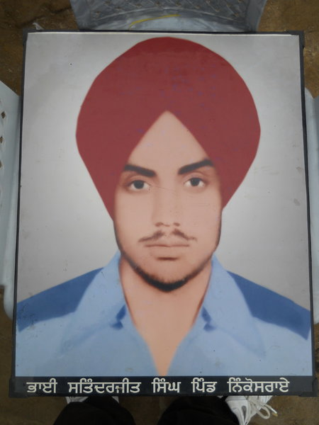 Photo of Satinderjit Singh, victim of extrajudicial execution on April 24, 1986, in Lopoke, by Punjab Police