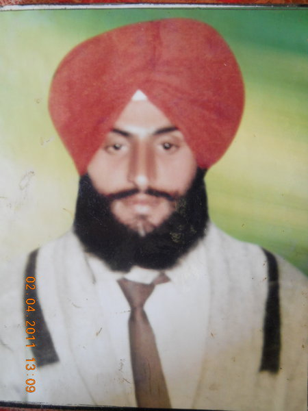 Photo of Rashpal Singh, victim of extrajudicial execution on October 01, 1991, in Batala, by Punjab Police