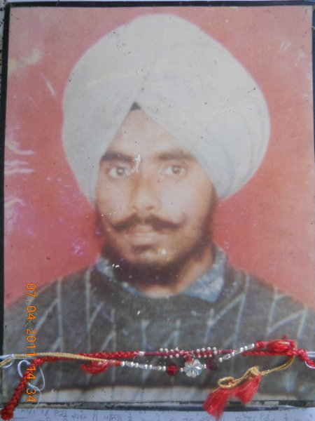 Photo of Mangal Singh, victim of extrajudicial execution between August 1, 1990 and August 30,  1990, in Adampur, by Punjab Police