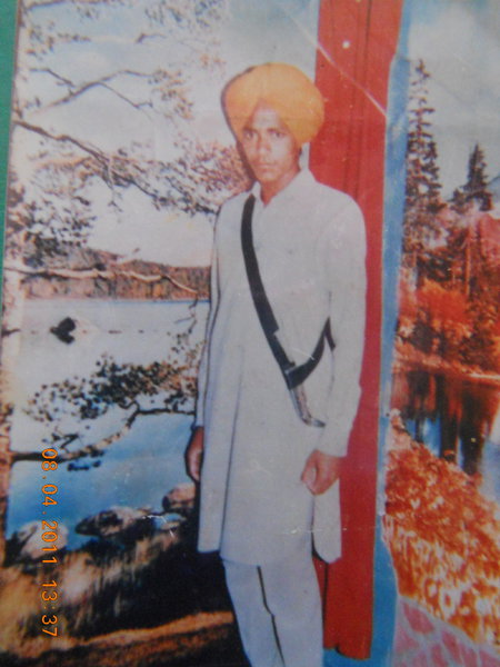 Photo of Jasbir Singh, victim of extrajudicial execution on April 15, 1988, in Amritsar, by Punjab Police