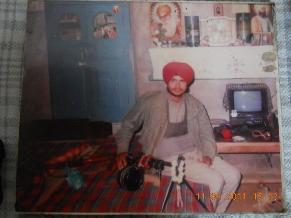 Photo of Narinder Singh, victim of extrajudicial execution on December 14, 1991, in Beas, by Punjab Police