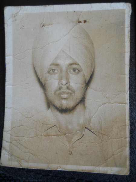 Photo of Bhagat Singh, victim of extrajudicial execution on January 11, 1991Border Security Force