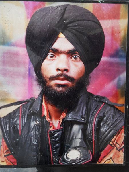 Photo of Balwinder Singh, victim of extrajudicial execution on March 22, 1993, in Dera Baba Nanak, by Punjab Police