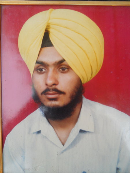 Photo of Jasbir Singh, victim of extrajudicial execution on March 18, 1990, in Dhariwal, by Punjab Police