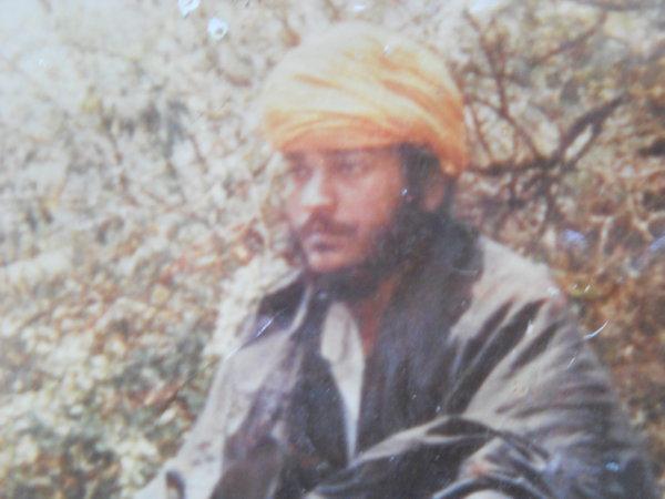 Photo of Waryam Singh, victim of extrajudicial execution on September 13, 1990, in Amritsar, Tarn Taran,  by Punjab Police; Black cat, in Amritsar, Tarn Taran, by Punjab Police; Black cat