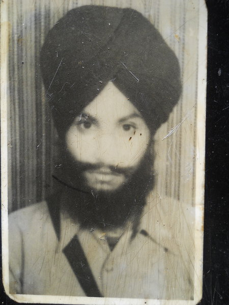 Photo of Dharamjeet Singh, victim of extrajudicial execution on April 15, 1989, in Batala, by Punjab Police