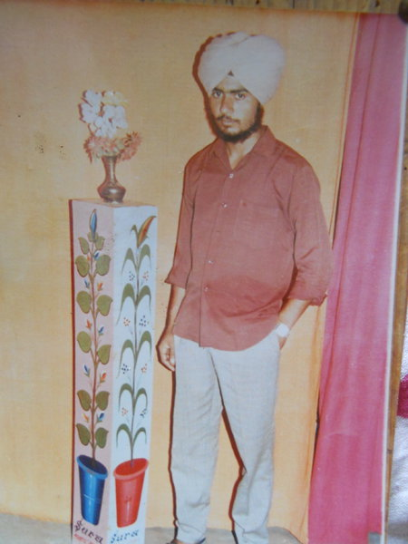 Photo of Hardev Singh, victim of extrajudicial execution on March 18, 1991, in Dhariwal, by Punjab Police