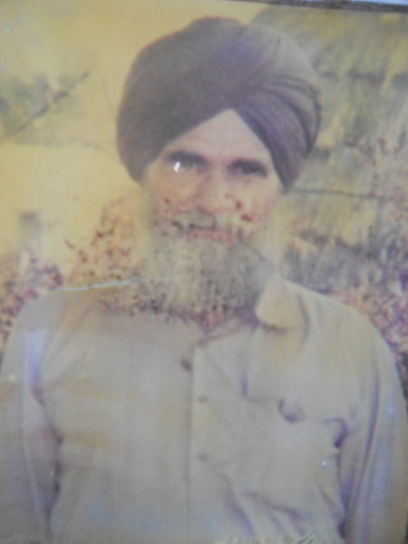 Photo of Sulakhan Singh, victim of extrajudicial execution on May 29, 1991, in Batala, by Punjab Police