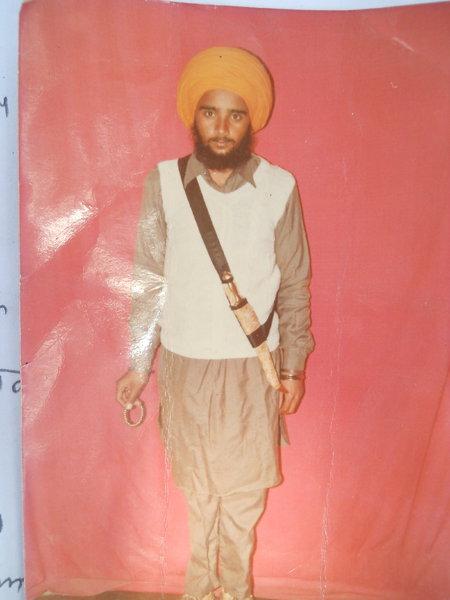 Photo of Satnam Singh, victim of extrajudicial execution on April 2, 1989, in Kapurthala, by Punjab Police