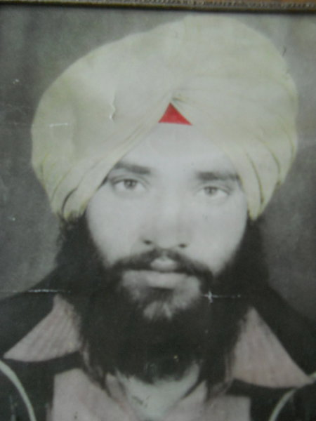 Photo of Nirmal Singh, victim of extrajudicial execution on February 26, 1987, in Batala,  by Border Security Force, in Batala, by Border Security Force