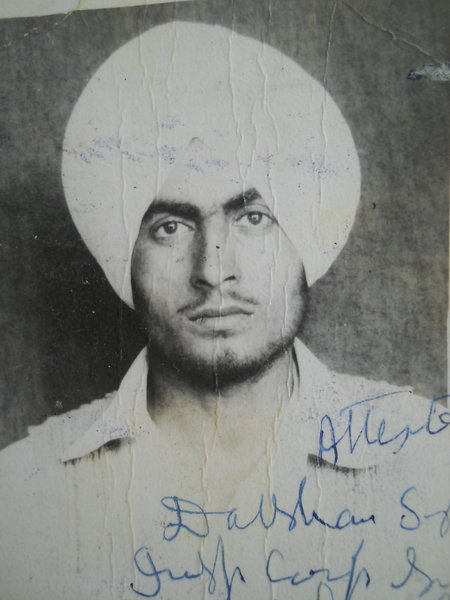 Photo of Gurdial Singh, victim of extrajudicial execution on April 30, 1988, in Kathu Nangal, Amritsar,  by Punjab Police; Border Security Force; Central Reserve Police Force, in Kathu Nangal, by Punjab Police