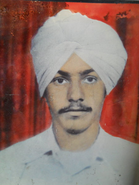 Photo of Kuldip Singh, victim of extrajudicial execution on June 27, 1988, in Dera Baba Nanak, by Punjab Police