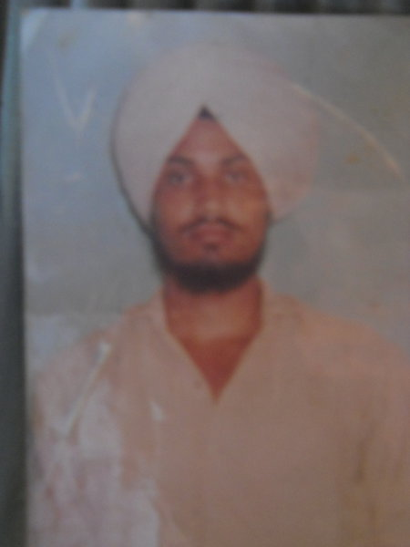 Photo of Parminder Singh, victim of extrajudicial execution between January 12, 1990 and January 13,  1990, in Batala, by Punjab Police