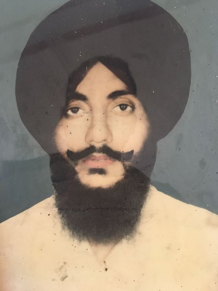 Photo of Partap Singh, victim of extrajudicial execution between May 15, 1988 and May 30,  1988, in Ludhiana, by Punjab Police