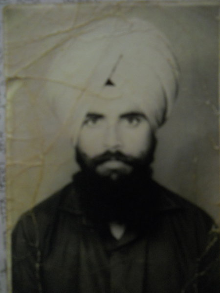 Photo of Bachittar Singh, victim of extrajudicial execution between March 1, 1992 and March 31,  1992, in Batala, by Punjab Police; Border Security Force