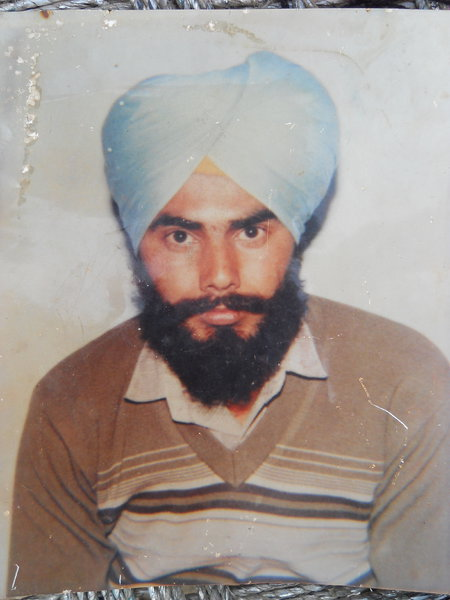 Photo of Gurmeet Singh, victim of extrajudicial execution on March 11, 1993, in Mehta, by Punjab Police
