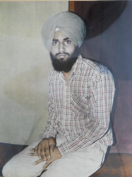 Photo of Surinder Singh, victim of extrajudicial execution on October 01, 1988, in Faridkot, by Punjab Police