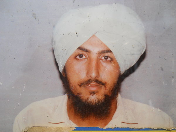Photo of Baldev Singh, victim of extrajudicial execution on November 03, 1990, in Dhariwal, by Punjab Police