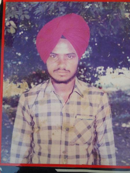 Photo of Baljit Singh, victim of extrajudicial execution on July 13, 1991, in Amaria, Bilsanda, Niuria, Pilibhit, Puranpur