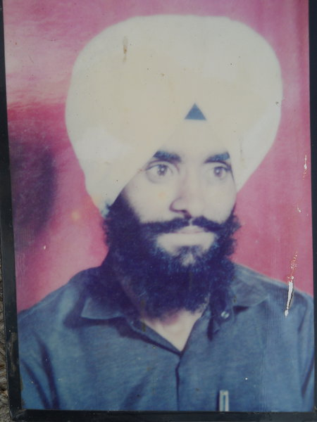 Photo of Dilbagh Singh, victim of extrajudicial execution on November 09, 1990, in Dhariwal, Gurdaspur, by Punjab Police
