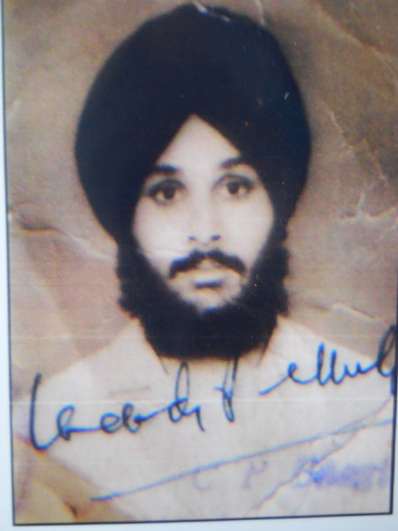 Photo of Rajinder Singh, victim of extrajudicial execution on March 21, 1991, in Pathankot, by Punjab Police
