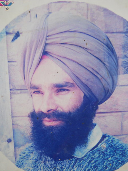 Photo of Randhir Singh, victim of extrajudicial execution on March 15, 1993, in Kahnuwan, by Punjab Police