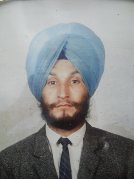Photo of Manjit Singh, victim of extrajudicial execution on September 17, 1990, in Batala, by Punjab Police