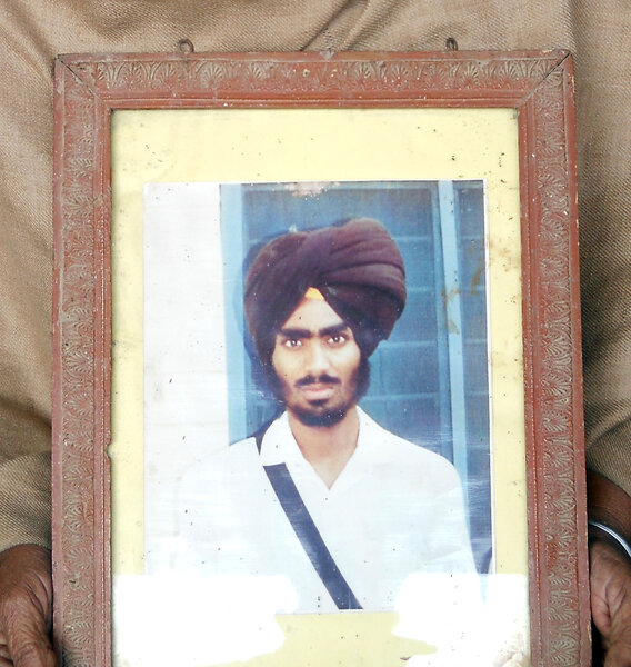 Photo of Kulwant Singh, victim of extrajudicial execution on May 23, 1989, in Batala, by Punjab Police
