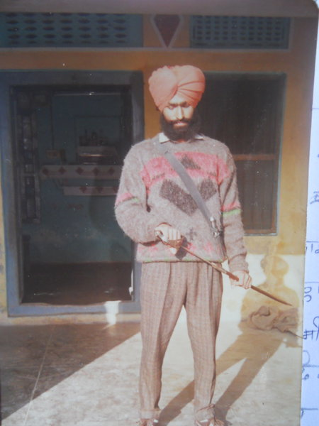 Photo of Raghbir Singh, victim of extrajudicial execution on March 03, 1991, in Majitha, by Punjab Police