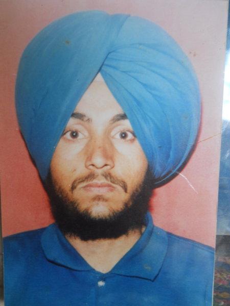Photo of Nishan Singh, victim of extrajudicial execution on September 11, 1992, in Gurdaspur, by Punjab Police; Criminal Investigation Agency