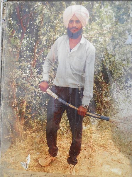 Photo of Suba Singh, victim of extrajudicial execution on November 22, 1990, in Dera Baba Nanak, by Punjab Police