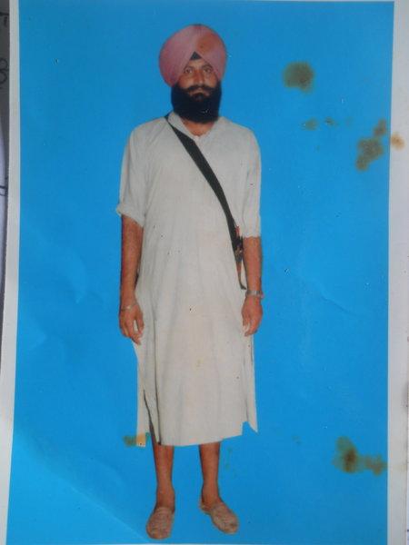 Photo of Sucha Singh, victim of extrajudicial execution on July 13, 1991, in Fatehgarh Churian, Ghanieke Bangar, by Punjab Police