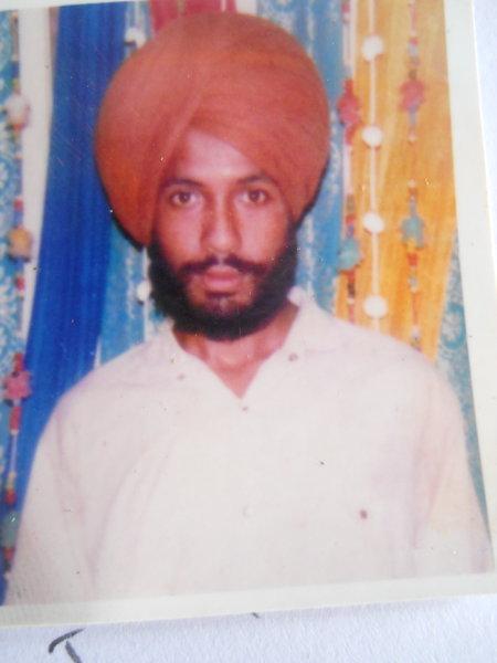 Photo of Rajwant Singh, victim of extrajudicial execution on October 07, 1991, in Fatehgarh Churian, Amritsar B.R. Model School Interrogation Center,  by Punjab Police; Criminal Investigation Agency, in Fatehgarh Churian, by Punjab Police