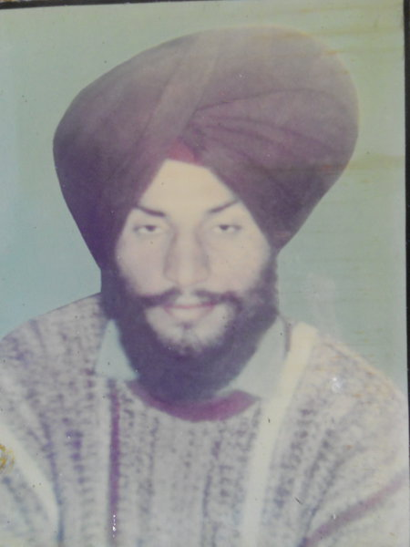 Photo of Harpal Singh, victim of extrajudicial execution on May 15, 1989, in Batala, by Punjab Police