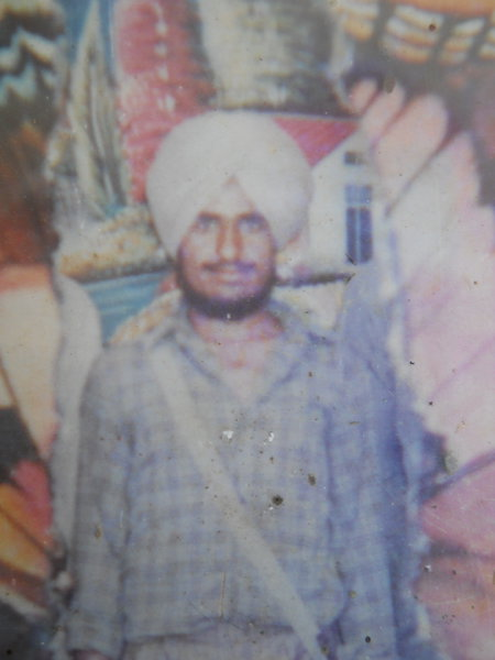 Photo of Jarnail Singh, victim of extrajudicial execution on November 22, 1989, in Kathu Nangal, by Border Security Force