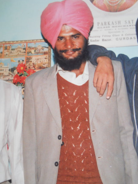 Photo of Gurmeet Singh, victim of extrajudicial execution on February 02, 1991, in Dhapai, by Punjab Police