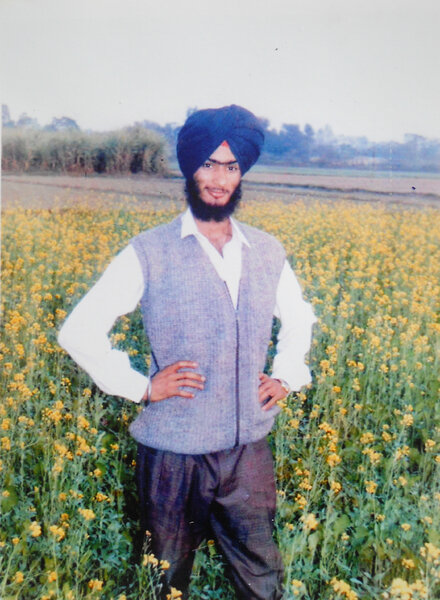 Photo of Gurjit Singh, victim of extrajudicial execution on April 27, 1991, in Dhapai, by Punjab Police; Army